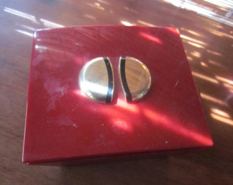 red guerlain perfume box, plastic, red and gold,,great shape,,paris