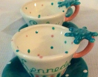 Personalized  Frozen tea cup party favor
