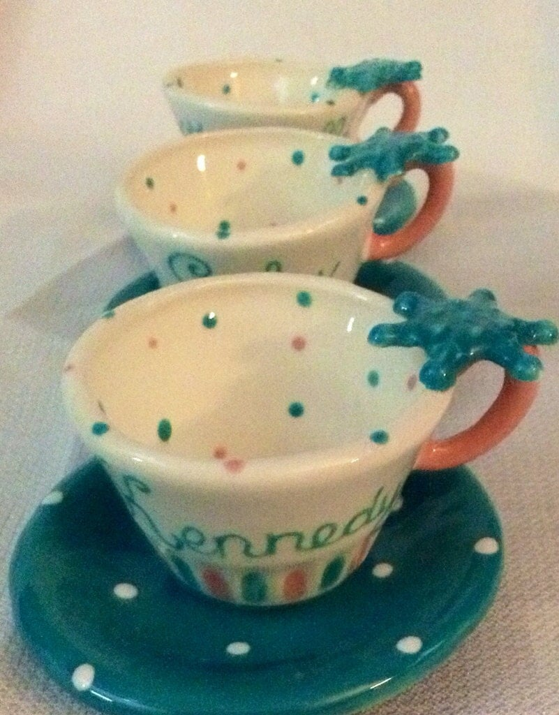 Personalized frozen tea cup party favor by speeglecreations for Teacup party favors
