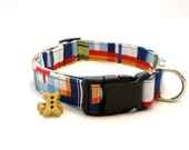 Preppy Plaid Dog Collar and Leash, Preppy Dog Collar, Boy Dog Collar, Patchwork Plaid Collar, Pet Collar, Large Dog Collar, Small Dog Collar