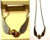 Golden Snitch Necklace, Potter Jewelry