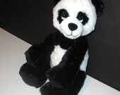 Black and White Panda Bear for Sale With Music Box Movement Inside  - 9 Inch Plush Stuffed Animals  - Your Choice of Color and Song