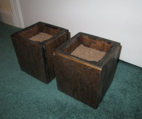 Furniture Risers, 4 Inch All Wood Construction - Square Design- Raise  Furniture, Create