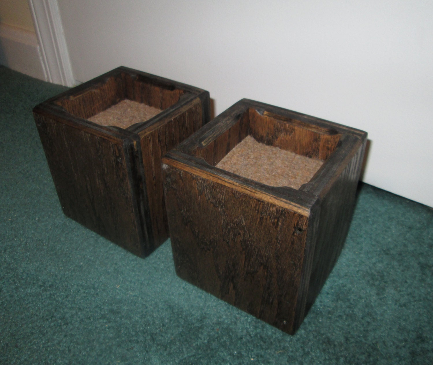 Furniture risers 4 inch all wood construction square for Floor y raise
