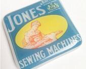 Glass Mini Tile, Jones Sewiing Machines