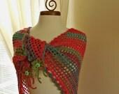 Crochet Triangle Scarf / Shawl, Crochet  Road Trip Scarf