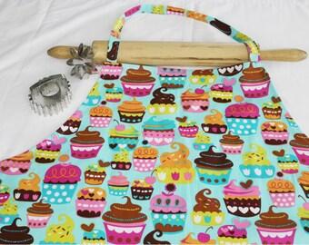 Plus Size Teal Sweet Cupcakes Apron