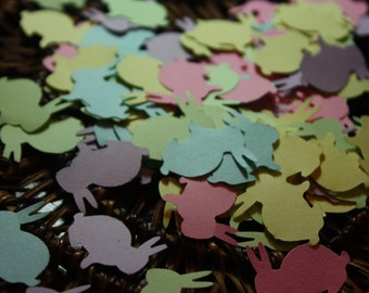 200 Bunny Confettti- Birthday- Easter-Baby Shower-CHOOSE COLORS