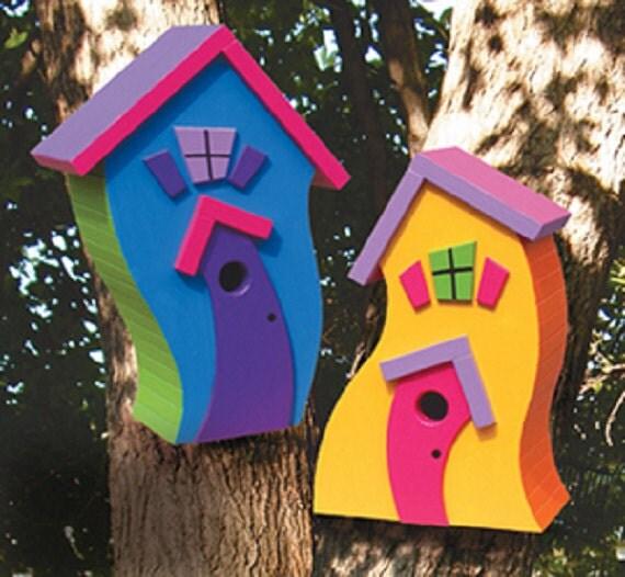 Whimsical Birdhouses by TheBlindLady on Etsy