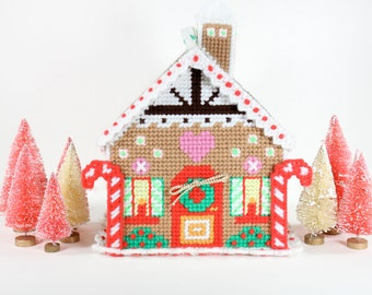 1970's Needlepoint Gingerbread House