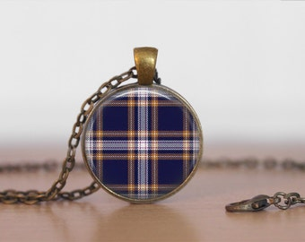 BAKER TARTAN PENDANT Necklace / Scottish Tartan Jewelry / Ancestral Jewellery / Baker Clan /Family Jewelry / Personalized Gift for Her