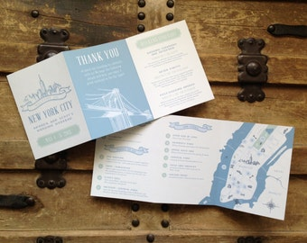 Custom Wedding Welcome Itinerary & Map - Design Fee