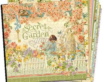"""Graphic 45 Secret Garden 12"""" x 12"""" Paper  RETIRED!"""