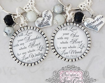 Mother of the Bride, Mother of the Groom, Gift from Bride, Gift from Groom,Wedding Jewelry, Inspirational Jewelry, Personalized Wedding Date