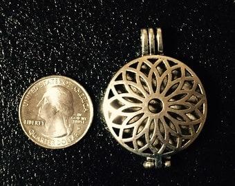 Antique Silver Alloy Oil Locket Pendant