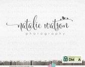 Photography Logo - Swirly Text Logo for photographer - Logo with Bird - photography logo - logos - logo design - photographer logo,