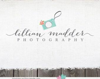 Photography Logo - Logo - logo design - premade logo - photographer logo - Watercolor logo - camera logo for photographer - Watermark Design