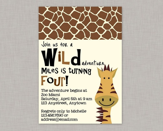 Zoo invitation jungle invitation zoo birthday party printable by il570xn stopboris Gallery