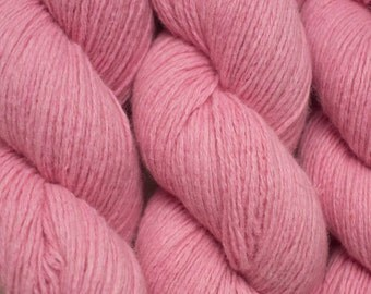 Cotton Candy Pink Wool Blend Reclaimed Yarn, 1039 Yards Available in Four Skeins of Different Lengths