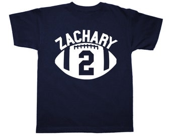 Personalized Football Sportsball Birthday Shirt - any age and name - pick your colors!