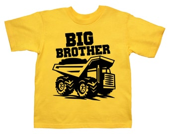 Dump Truck Shirt Personalized Big Brother Shirt - any name - Pick Your Colors!