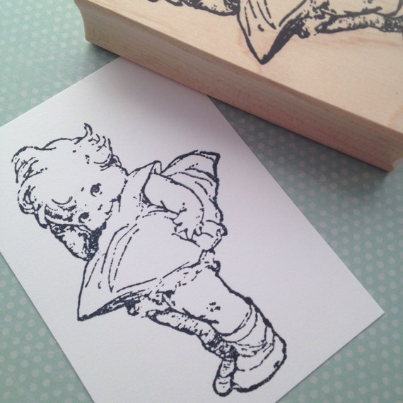 Big Kewpie Doll Mounted Rubber Stamp 6235