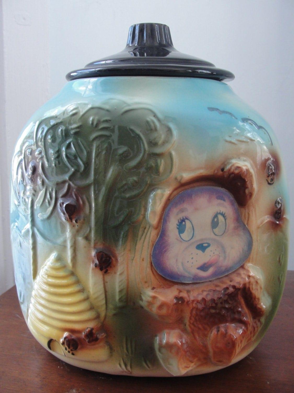 Antique cookie jar bear and beehive 1940 39 s - Beehive cookie jar ...