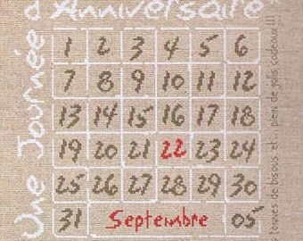 A Day ... (Une Journée...) - Cross Stitch Chart by Lilipoints