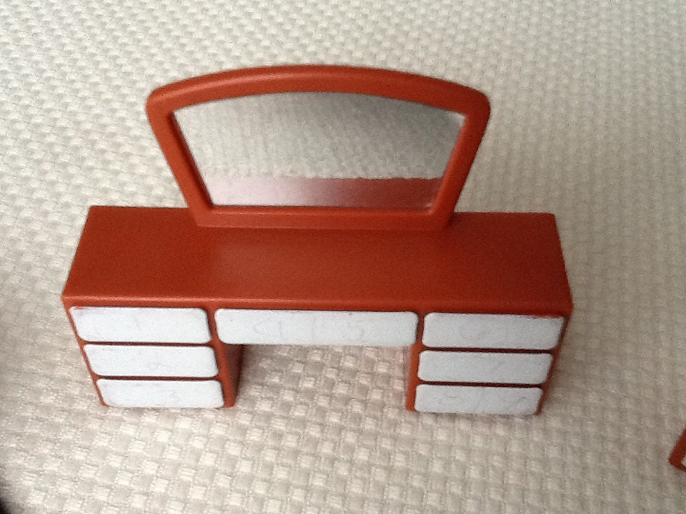 Vintage Arco 4 Pc Plastic Dollhouse Furniture By Skirtsandthings
