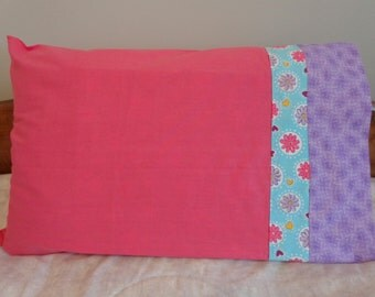 Pink and Purple Go Together- Standard Pillowcase Pair