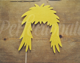 Felt 80s Rocker Hair | 80s Photo-Booth Props | 80s Party Props | Rocker Hair