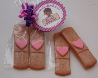 10 BAND AID SOAP [20 Soaps] Favors - {With Tags & Ribbons} - Doc McStuffins Birthday Favor, Doctor Favor, Nurse Favor, Medical / Hospital