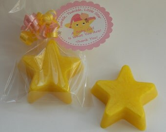 10 TWINKLE LITTLE STAR Soap Favors {With Tags & Curly Ribbons} - Mother Goose Nursery Rhyme, All Star Party Favor, Celestial Baby Shower