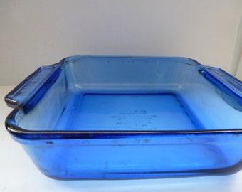 Cobalt Blue Pyrex Casserole Dish 2 Quart Vintage Pyrex Baking Dish Vintage Cobalt Blue Pyrex