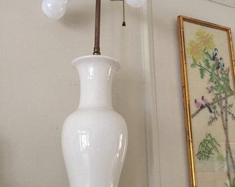 White ceramic  lamp double bulbs