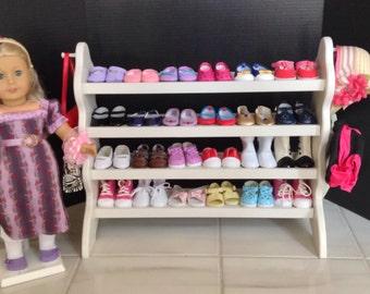 "American Girl Doll: 24"" shoe rack for 18"" American Girl Doll"