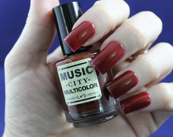 Shut the Cluck Up! Music City Multicolor nail polish red Nashville