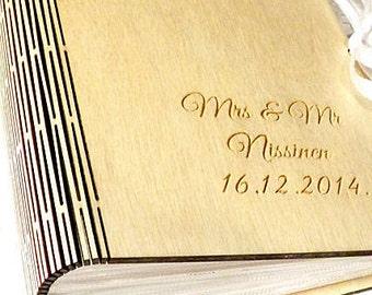 Personalized Photo Album, Wedding Photo Album, Picture Album,Wood Album,Wedding Gift,Bridal Shower,Picture Album,Rustic Wedding,Woodworking