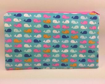 Little Whale Pencil Case / Cosmetic Case