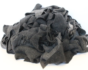 Recycled Cashmere Remnants - Medium/Charcoal Grey 16oz
