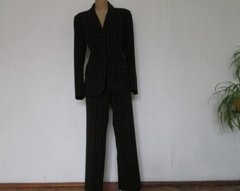 3 PC Womens Suit Vintage / Jacket / Skirt / Pants / SizeEUR42 / UK14