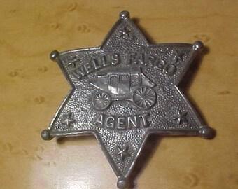 Wells Fargo Stage Coach Badge Silver Tone vintage 60s