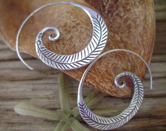 Fine Silver earrings-The Silver One (6)