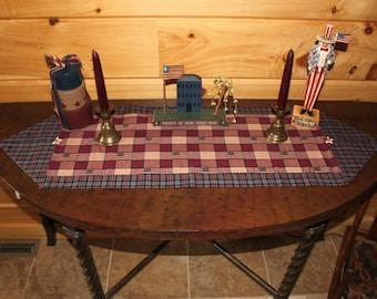 Country Americana Homespun Table Runner