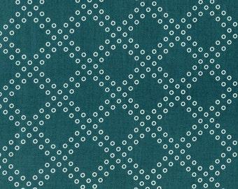 Mochi Dottie's Cousin in Teal, Rashida Coleman Hale, Cotton+Steel, RJR Fabrics, 100% Cotton Fabric, 1915-5