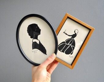 Vintage Pegelo Framed Silhouette Portrait