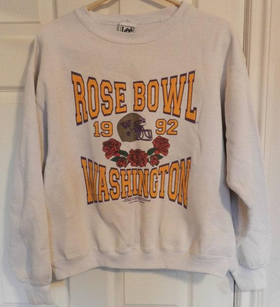 vintage washington huskies bowl sweatshirt uw 92