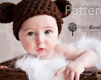 PDF PATTERN Baby Bear Beanie Newborn 0-3 and 3-6 Months Instant Download