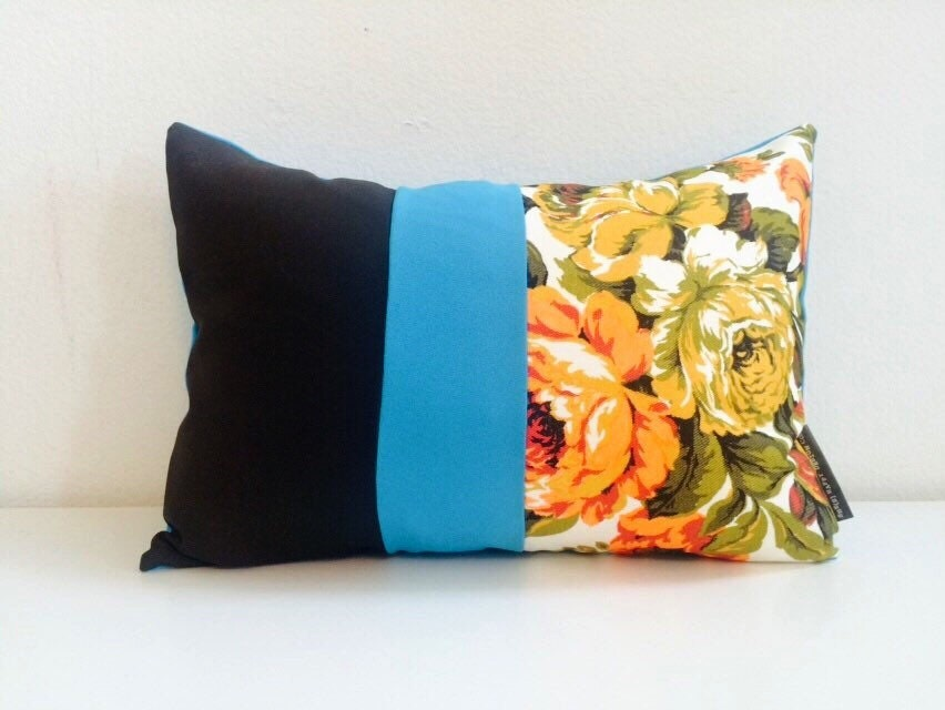 Mid Century Pillow Cover 13x18 Lumbar Cushion Mod