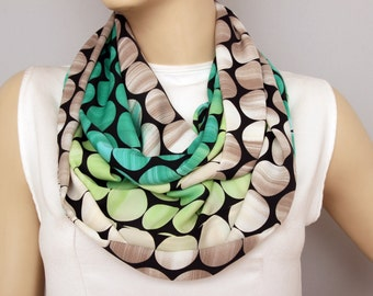 SALE SILK scarf  -Infinity scarf,Loop scarf, scarf , necklace scarf, neckwarmer,
